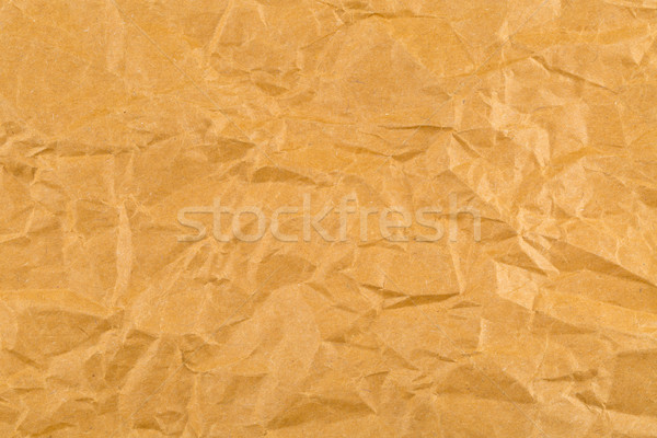 Crumbled brown empty, clean paper texture Stock photo © ShawnHempel
