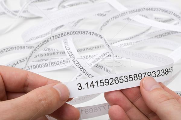 Araştırmacı başlatmak numara pi parmak Stok fotoğraf © ShawnHempel