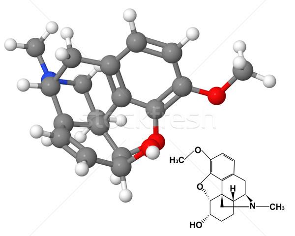 Químicos fórmula aislado blanco modelo ciencia Foto stock © ShawnHempel