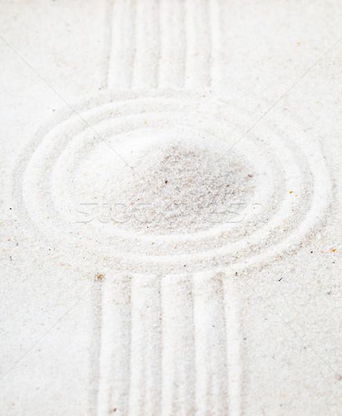 Zen giardino sabbia meditazione line piramide Foto d'archivio © ShawnHempel