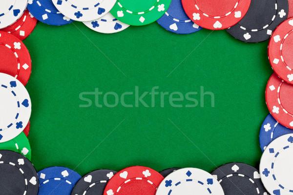 фишки казино различный кадр зеленый таблице копия пространства Сток-фото © ShawnHempel