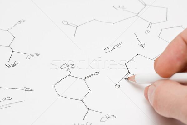 Chimiques formule papier chercheur enseignants écrit Photo stock © ShawnHempel