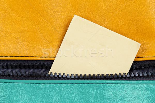 Leather with zip Stock photo © ShawnHempel