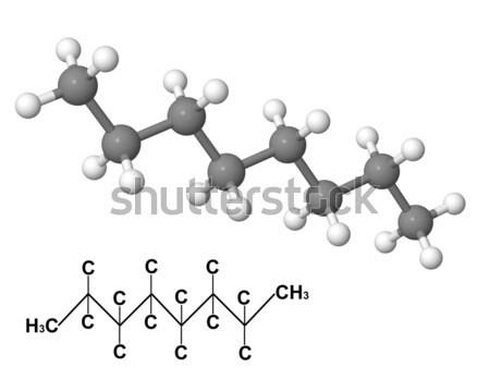 Foto d'archivio: Chimica · formula · isolato · bianco · modello · scienza
