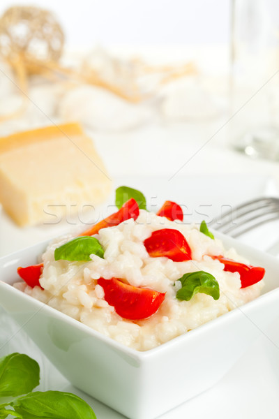 Tomato and basil risotto Stock photo © ShawnHempel