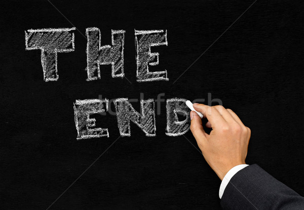 'The End' writing on blackboard Stock photo © ShawnHempel