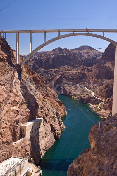 Mike O'Callaghan - Pat Tillman Memorial Bridge from Hoover Dam Stock photo © ShawnHempel