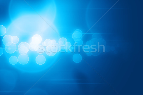 Abstract blue circles and lines glowing technology background Stock photo © ShawnHempel