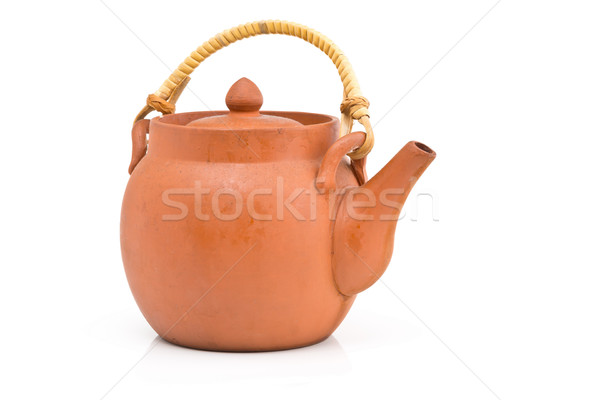 Unglazed brown ceramic teapot Stock photo © ShawnHempel
