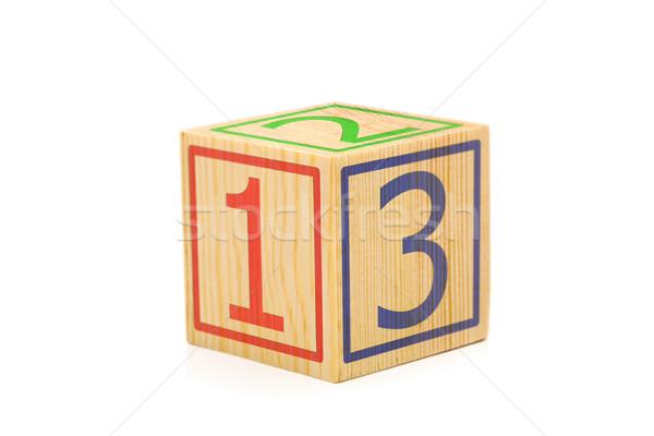 ストックフォト: 木製 · キューブ · 番号 · 1 · 2 · 3 ·