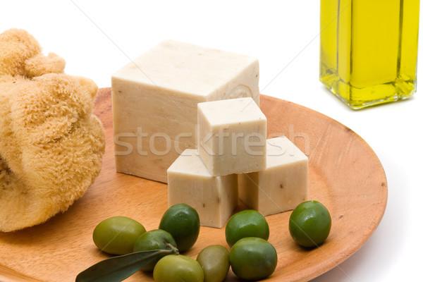 Olive oil soap Stock photo © ShawnHempel