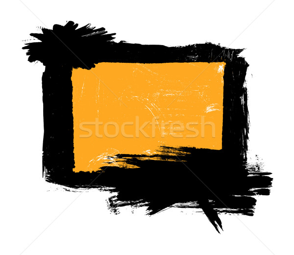 Dirty, stained paint stroke grunge rectangle frame Stock photo © ShawnHempel