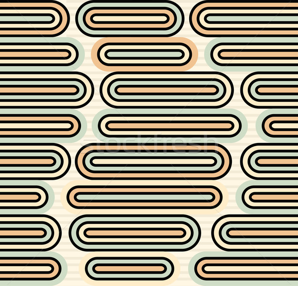 Retro pastel colored rounded rectangles repeatable pattern Stock photo © ShawnHempel