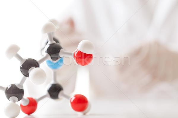 Stock fotó: Vegyi · kísérlet · modell · kutató · oktatás · kék