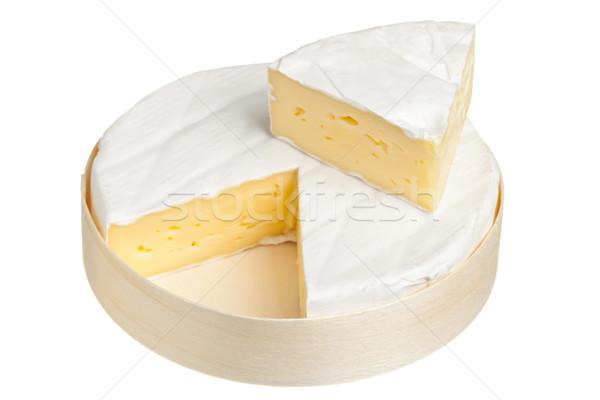 Camambert peynir yalıtılmış beyaz krem Stok fotoğraf © ShawnHempel