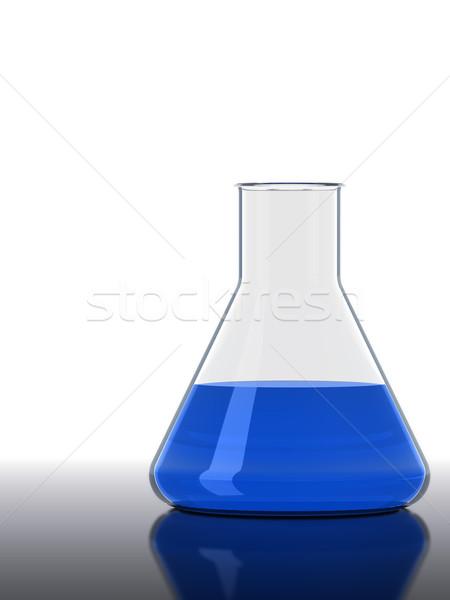 Blue flask Stock photo © ShawnHempel