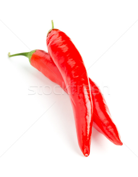 Whole, uncut red chili peppers Stock photo © ShawnHempel