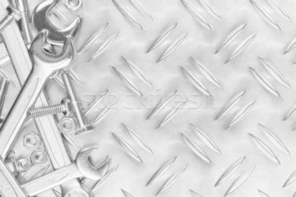 Meccanica chiavi dadi metal copia spazio industria Foto d'archivio © ShawnHempel