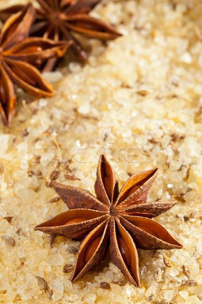 Perfumado sal amarelo sal do mar estrela tempero Foto stock © ShawnHempel