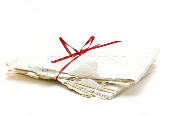 Zdjęcia stock: Miłości · litery · vintage · biały · kwiat