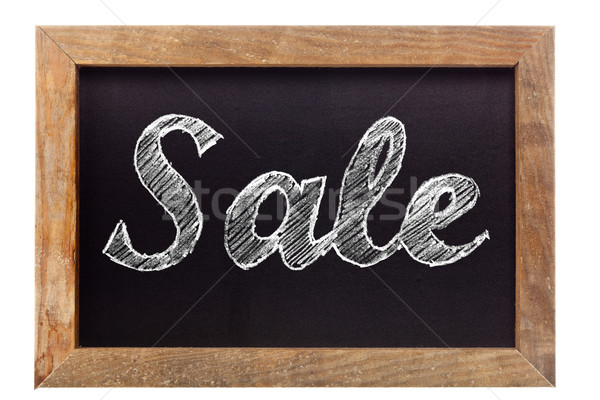 Sale chalk writing on chalkboard Stock photo © ShawnHempel