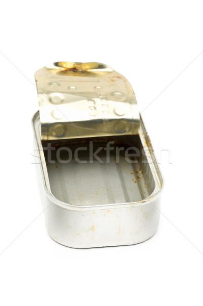 Old used dirty empty fish tin can  Stock photo © ShawnHempel
