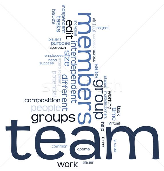 Team word cloud Stock photo © ShawnHempel