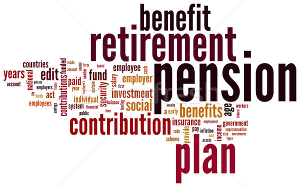 Pension and retirement tag cloud Stock photo © ShawnHempel