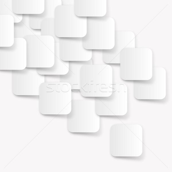 Weiß Rechteck abstrakten modernen Muster Wand Stock foto © ShawnHempel