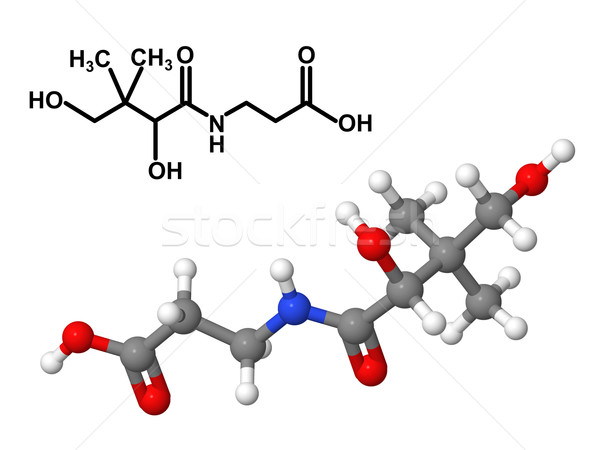 Vitamina químicos fórmula ácido aislado blanco Foto stock © ShawnHempel