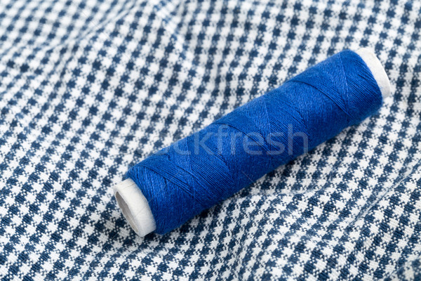Sewing yarn roll on fabric Stock photo © ShawnHempel