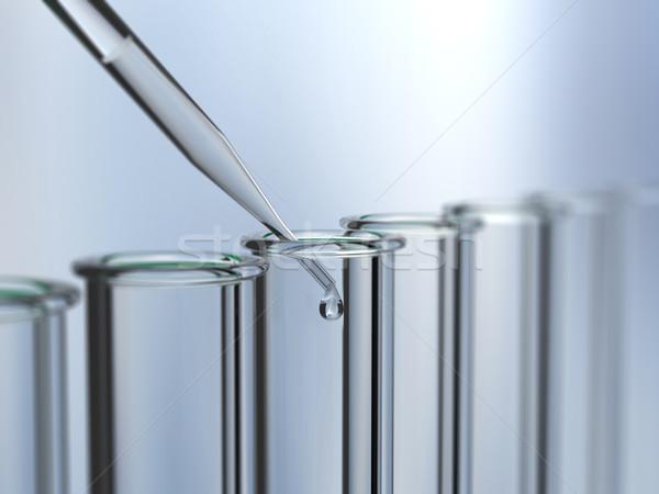 Teszt csövek mező kék üveg háttér Stock fotó © ShawnHempel
