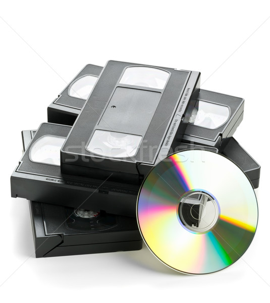 куча аналоговый видео диска старые фильмы Сток-фото © ShawnHempel