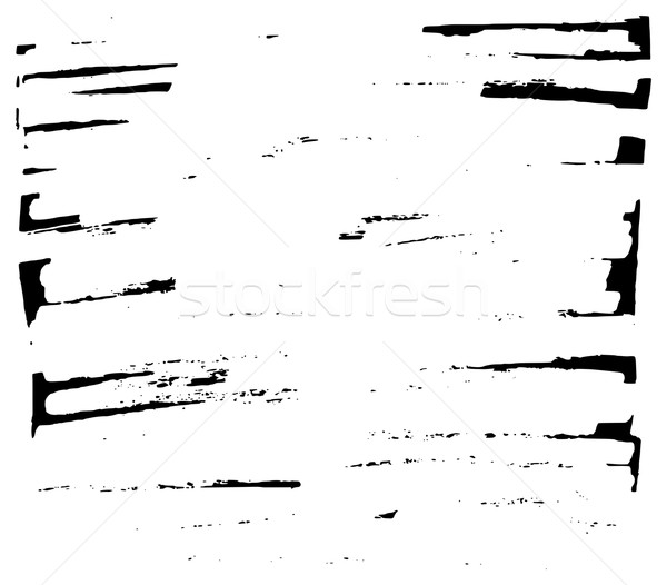 Hand drawn grunge background sparse rectangle element Stock photo © ShawnHempel