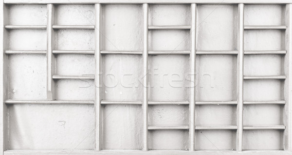 Empty wooden white painted seed or letters or collectibles box  Stock photo © ShawnHempel