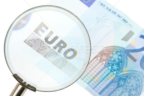 Scrutinizing the Euro Stock photo © ShawnHempel