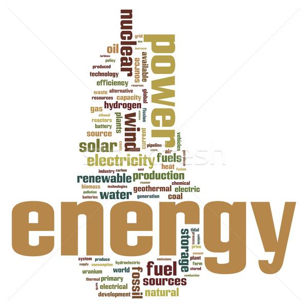 энергии ископаемое альтернатива слово облако воды технологий Сток-фото © ShawnHempel