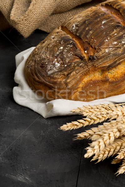 Mano pane pagnotta grano orecchie fatto in casa Foto d'archivio © ShawnHempel
