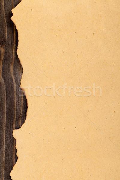 Old burned edge paper Stock photo © ShawnHempel