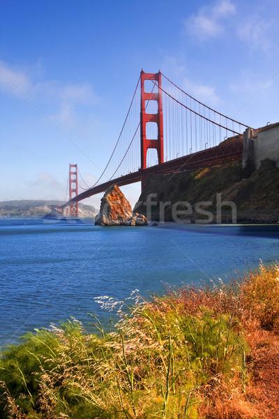 Golden Gate Bridge słynny San Francisco California USA niebo Zdjęcia stock © ShawnHempel
