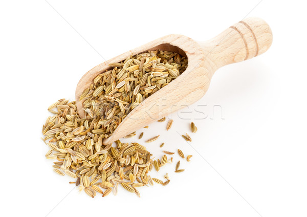 Fennel seeds on wooden scoop Stock photo © ShawnHempel