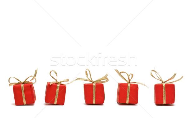 Presentes vermelho papel cópia espaço fundo Foto stock © ShawnHempel