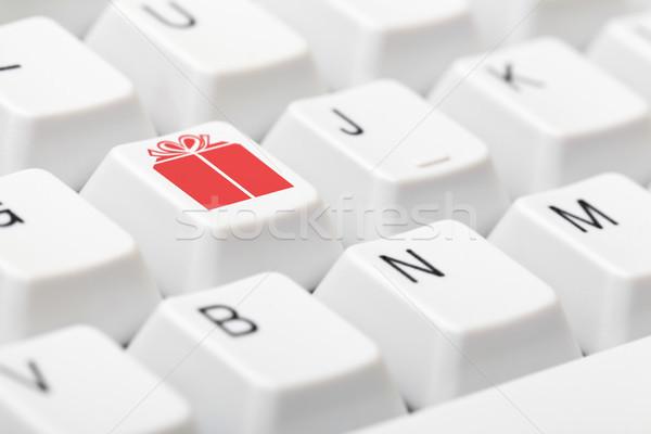 を クリスマス ショッピング キーボード ギフト シンボル ストックフォト © ShawnHempel