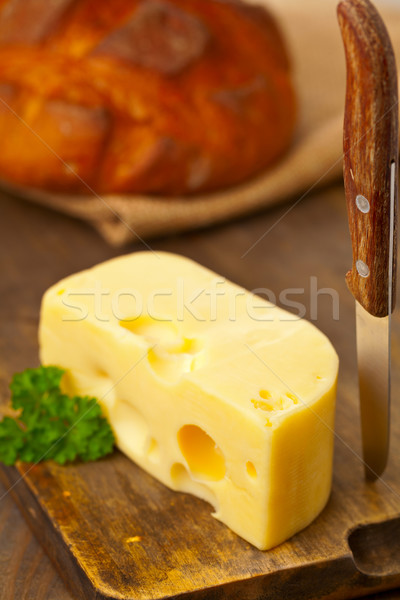 Edam cheese with bread Stock photo © ShawnHempel