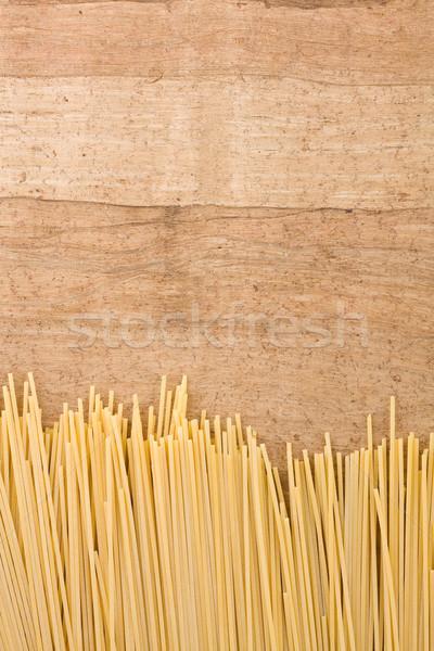 Makarna lezzetli spagetti eski ahşap bo Stok fotoğraf © ShawnHempel
