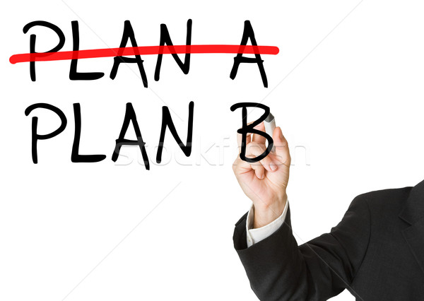Plan b alternatif plan adam yazı Stok fotoğraf © ShawnHempel