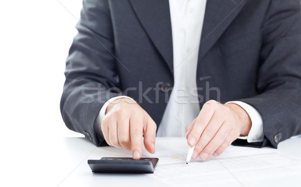 Stock fotó: Költségvetést · készít · üzlet · pénzügy · férfi · költségvetés · számok