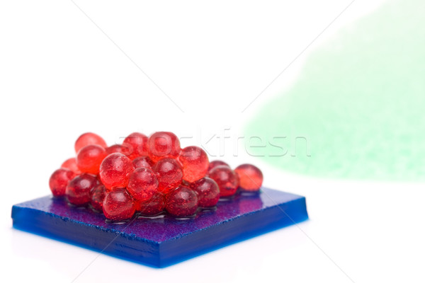 Moleküler gastronomi tatlı ahududu havyar Stok fotoğraf © ShawnHempel