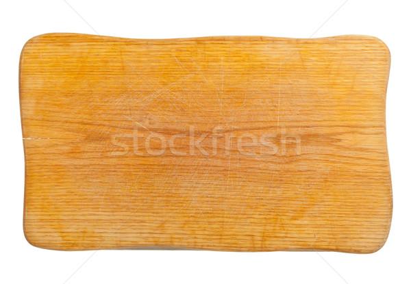 Deska do krojenia pusty kuchnia odizolowany biały Zdjęcia stock © ShawnHempel