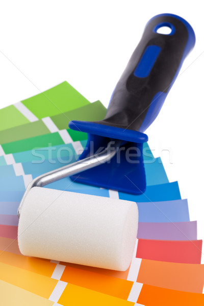 Color chart guide with paint roller Stock photo © ShawnHempel